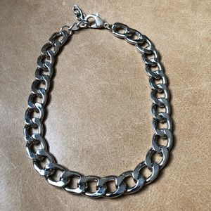 Classic silver curb chain necklace